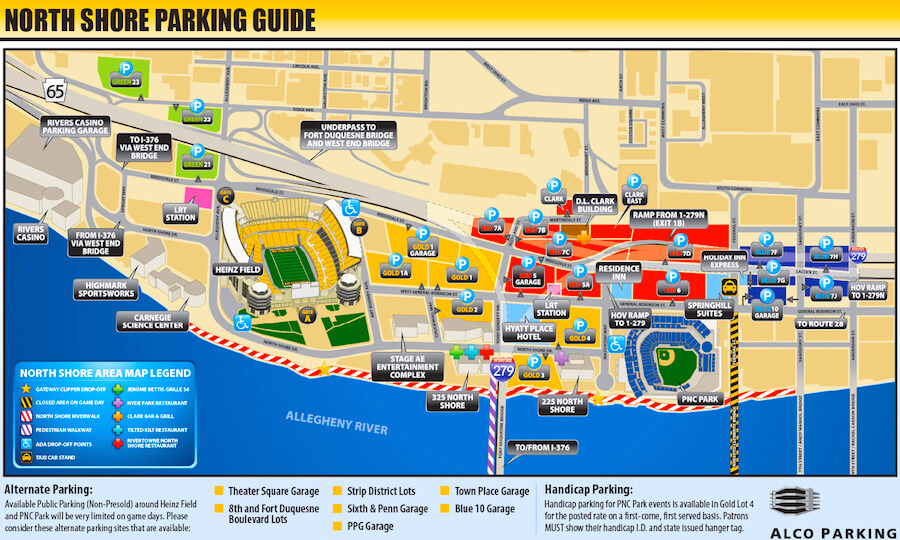 PNC Park Seating Map